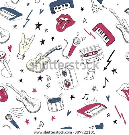 music symbolsvector seamless