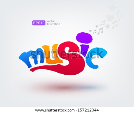 music text design
