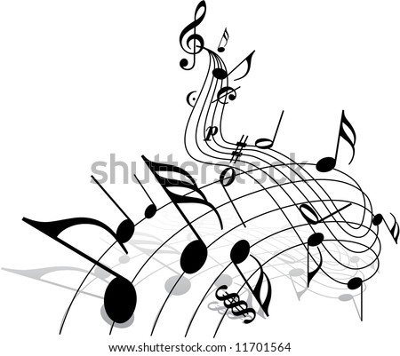 Music Theme Stock Vector 11701564 : Shutterstock