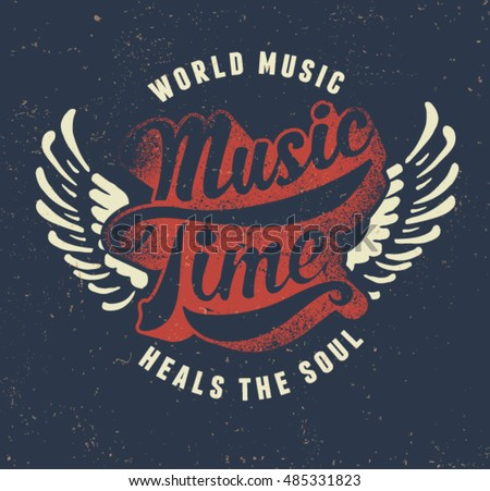 music time vintage college
