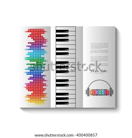 music trifold brochure