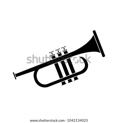 music trumpet icon Сток-фото ©