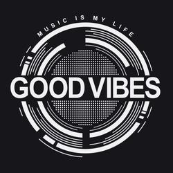 Music typography, tee shirt graphics, vectors