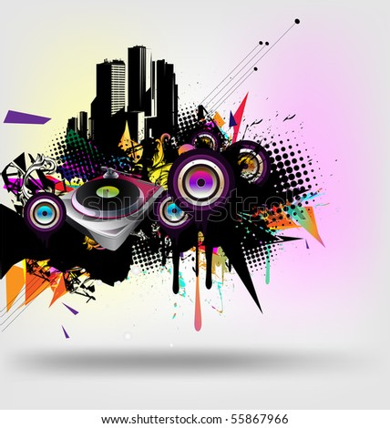 music urban vector