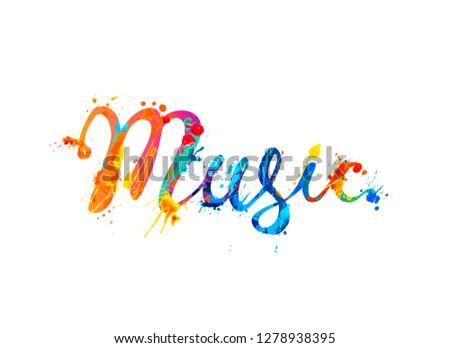 music vector calligraphic hand