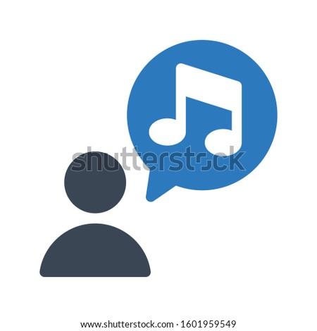 music vector glyph  color icon  Foto stock ©