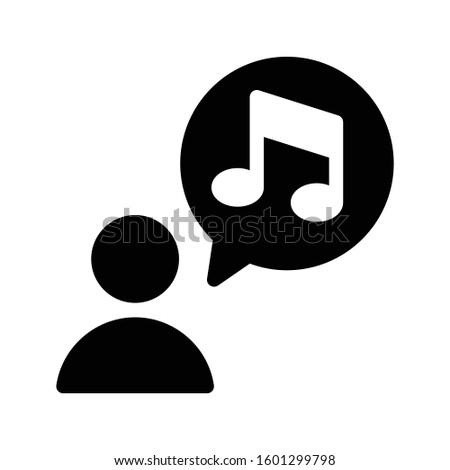 music vector glyph flat icon  Foto stock ©