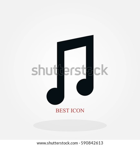 music vector icon, flat design best vector icon