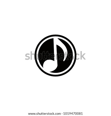 Music vector logo abstract template