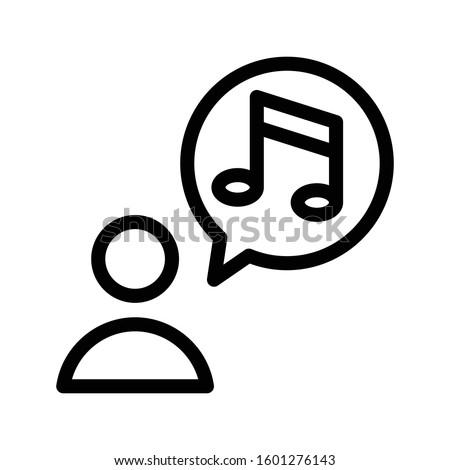 music vector thin line icon  Foto stock ©