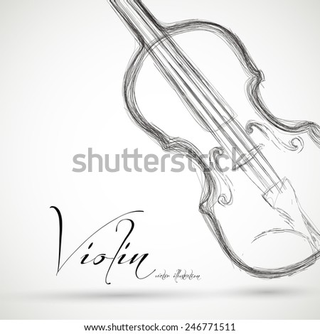 Music Violin design over background, easy editable #246771511