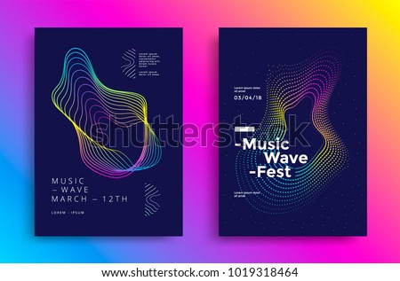 music wave poster design sound