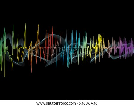 Music waves. Vector illustration