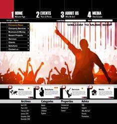 Music Website Template