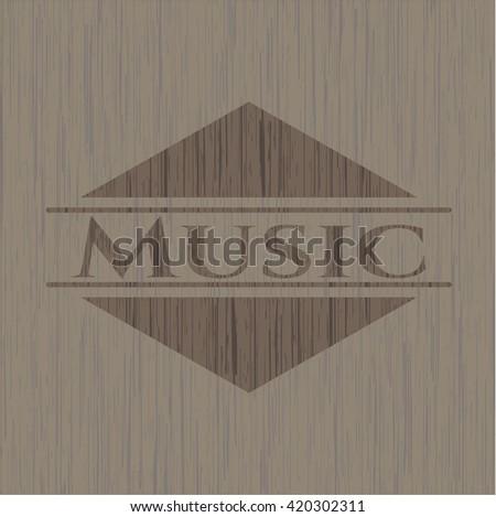 Music wood emblem