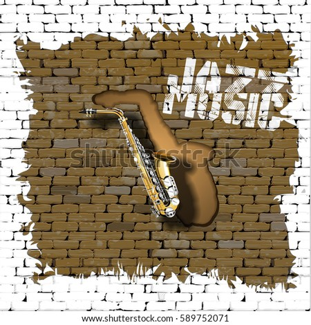 musical background saxophone in