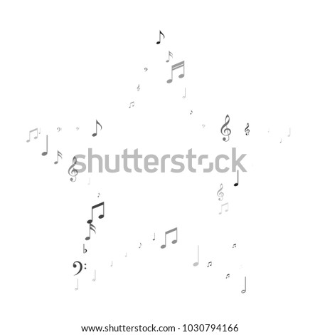 Musical Background With Note Signs And Symbols Music Festival Flyer