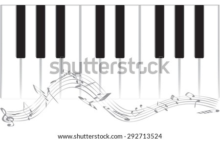 Musical background with piano. EPS vector illustration
