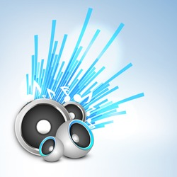 Musical background with speakers.