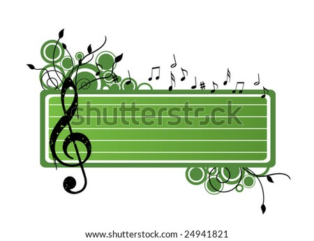 Musical Banner - stock vector