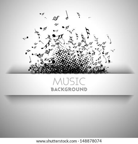musical banner  flyer  poster