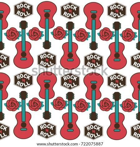 musical british vector seamless