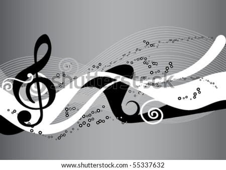 Musical clip-art. abstract
