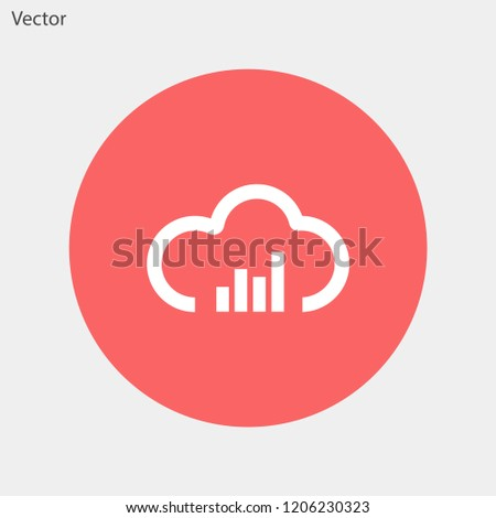 musical cloud vector icon 10 eps