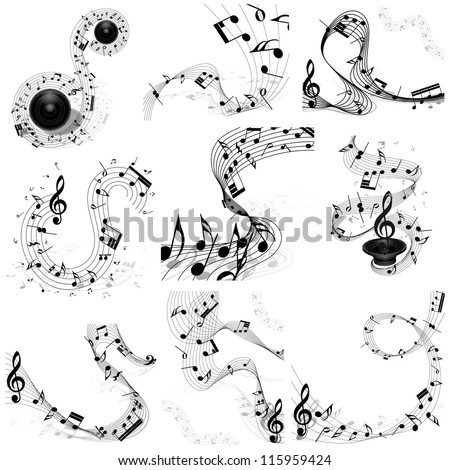 musical design  elements set