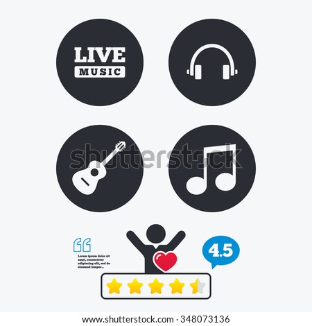 musical elements icons musical
