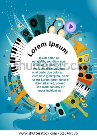 Musical Flyer Design - Vector