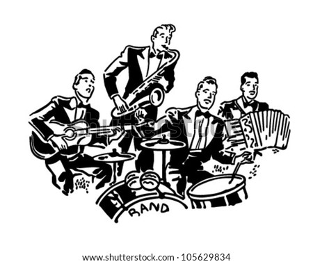 Musical Group - Retro Clipart Illustration
