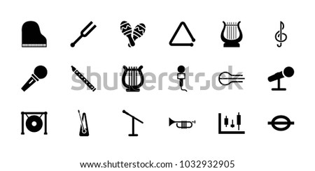musical icons set of 18