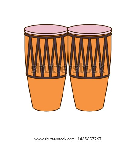 musical instrument congas on white background