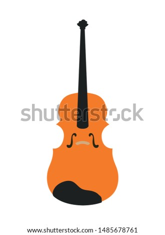 musical instrument fiddle on white background
