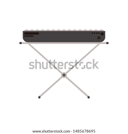musical instrument piano keyboard on white background