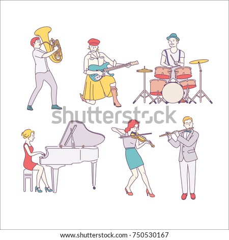 musical instrument players
