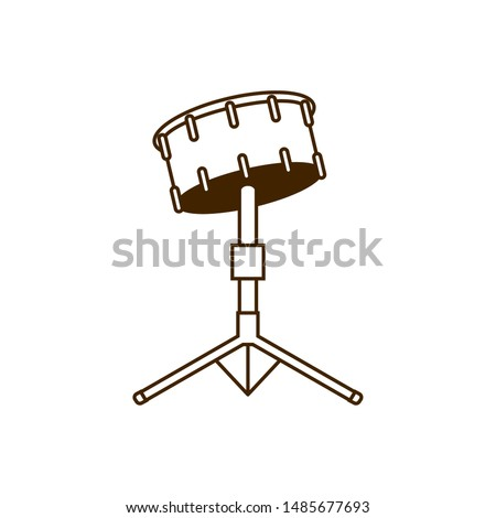 musical instrument timpani drums on white background