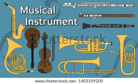 Musical Instrument Woodwind Instruments Brass Instruments Trumpet Clarinet Saxophone Violin Flute