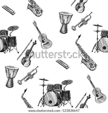 musical instrumentspattern