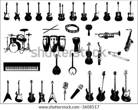 stock vector : musical instruments vector
