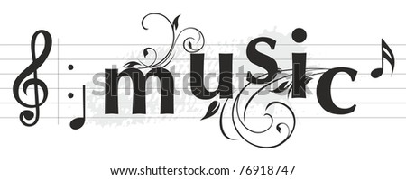musical letters banner