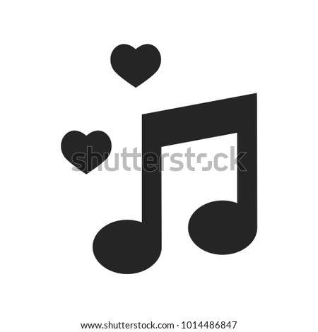 Musical love icon