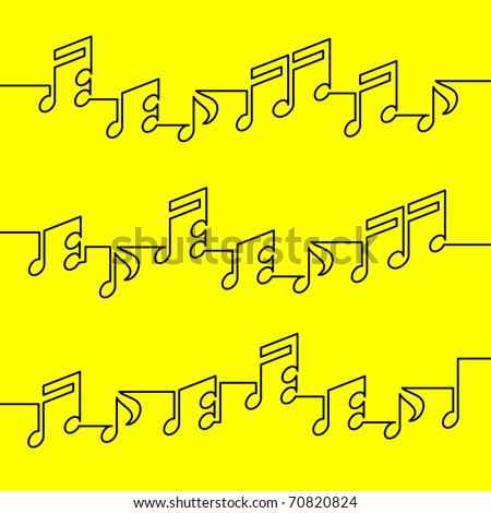 musical notation - stock vector
