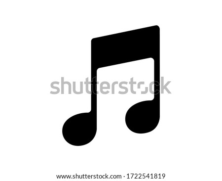 Musical notation icon in black color. Illustration of music symbol. Classic melody sign in flat design. Chords icon silhouette. Key note for piano and guitar. Vector EPS 10 Photo stock ©