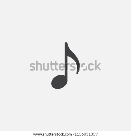 musical note base icon. Simple sign illustration. musical note symbol design from Music series. Can be used for web, print and mobile