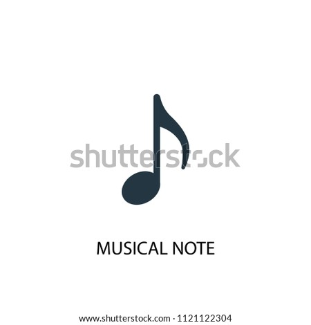 musical note creative icon. Simple element illustration. musical note concept symbol design from music collection. Can be used for web and mobile.