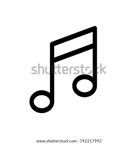 Musical note icon, Musical icon vector, in trendy flat style isolated on white background. Musical icon image, Musical icon illustration