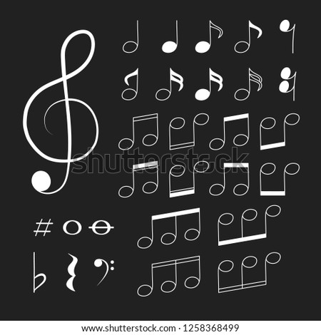 stock-vector-musical-note-icon-on-black-background-notes-and-clef-symbols-vector-isolated-illustration