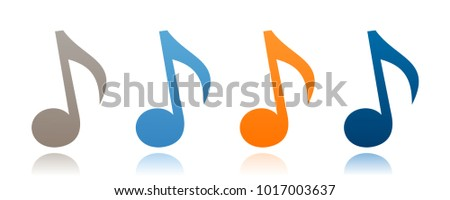 Musical note icon. Vector illustration